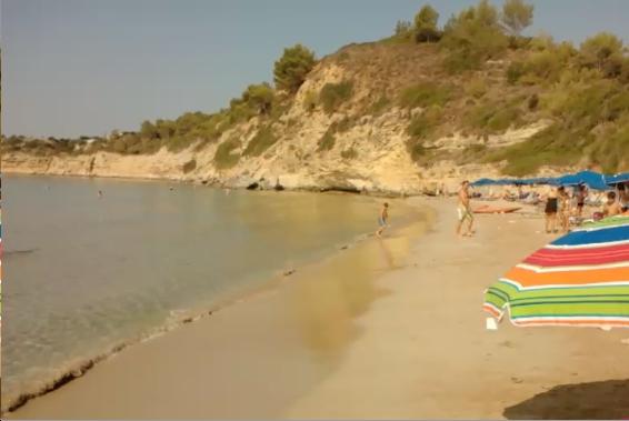Και η άλλη άποψη της παραλίας.